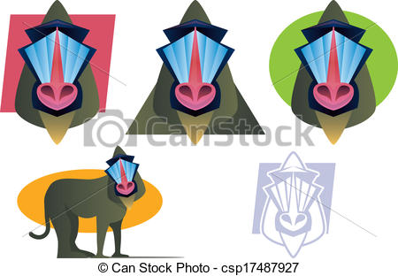 Mandrill clipart #7, Download drawings