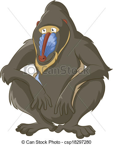 Mandrill clipart #9, Download drawings