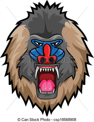 Mandrill clipart #14, Download drawings