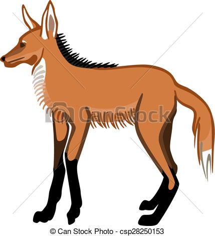 Maned Wolf clipart #20, Download drawings