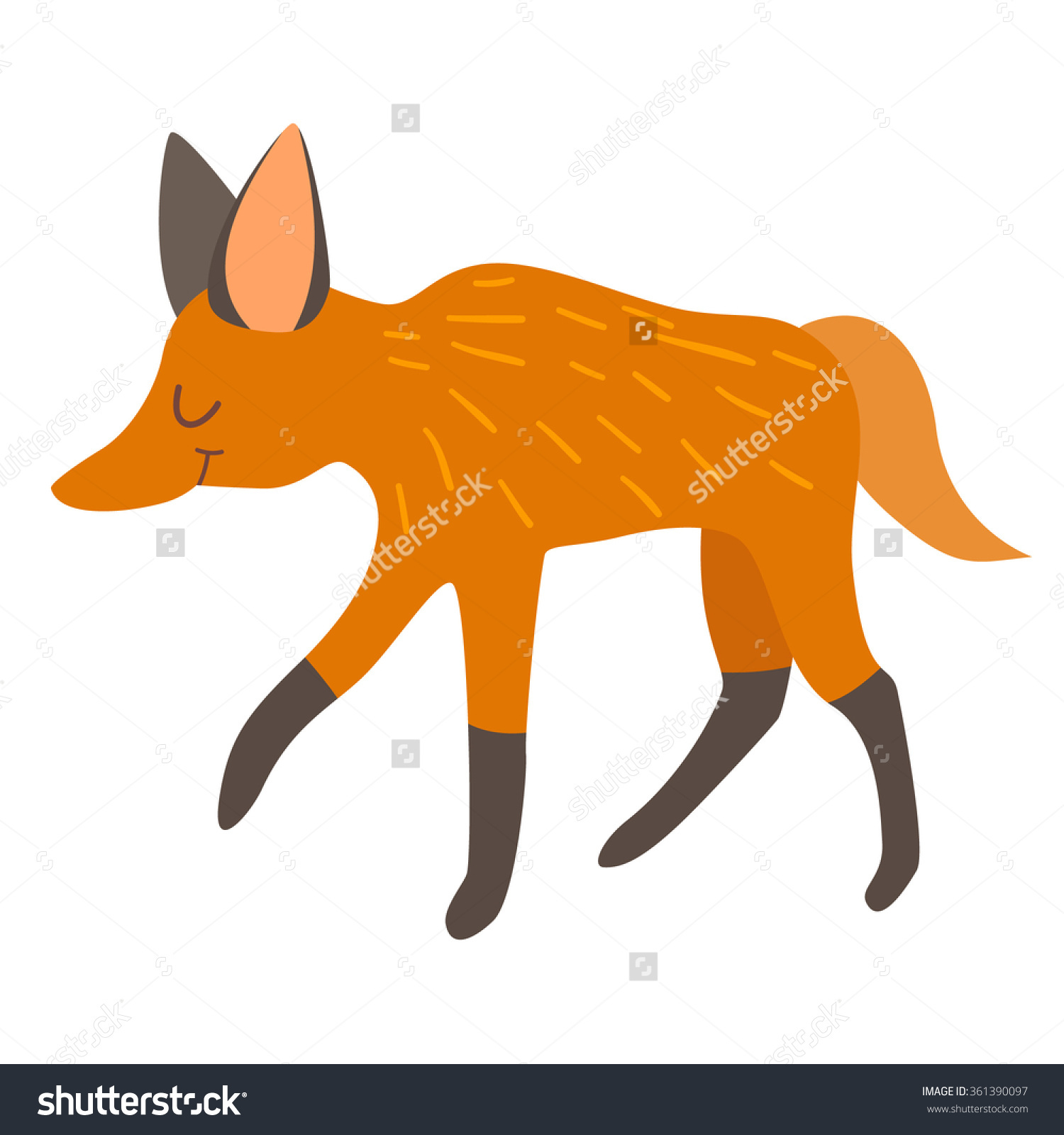Maned Wolf clipart #6, Download drawings