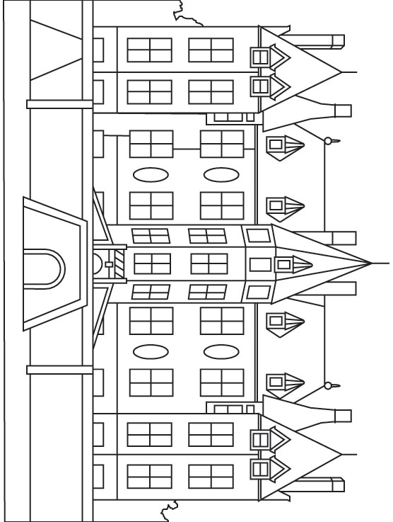 Mansion coloring #10, Download drawings