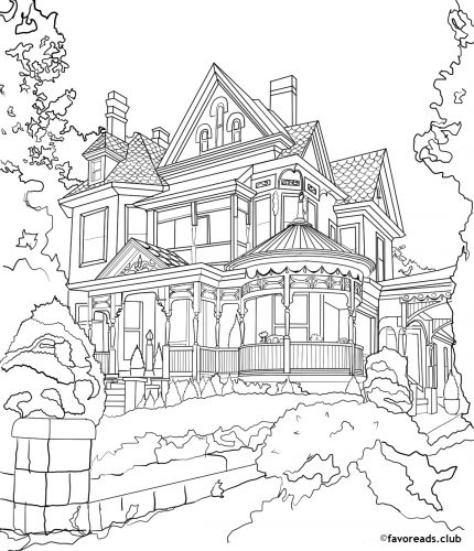 Mansion coloring #8, Download drawings