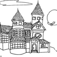 Mansion coloring #13, Download drawings