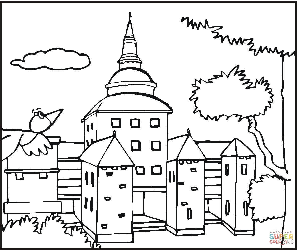 Mansion coloring #6, Download drawings