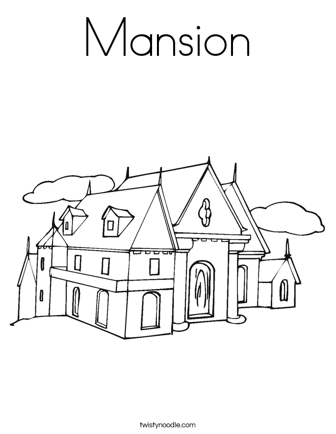 Mansion coloring #20, Download drawings