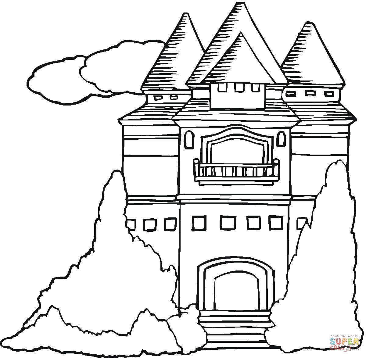 Mansion coloring #12, Download drawings