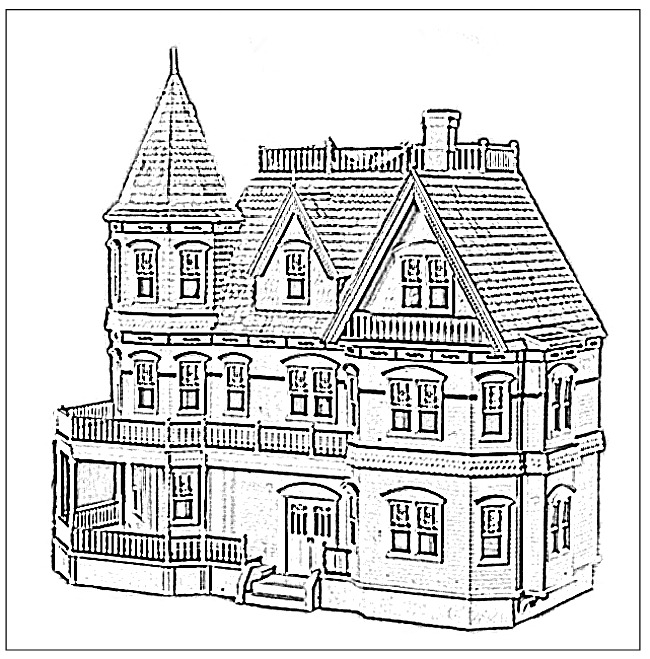 Mansion coloring #17, Download drawings