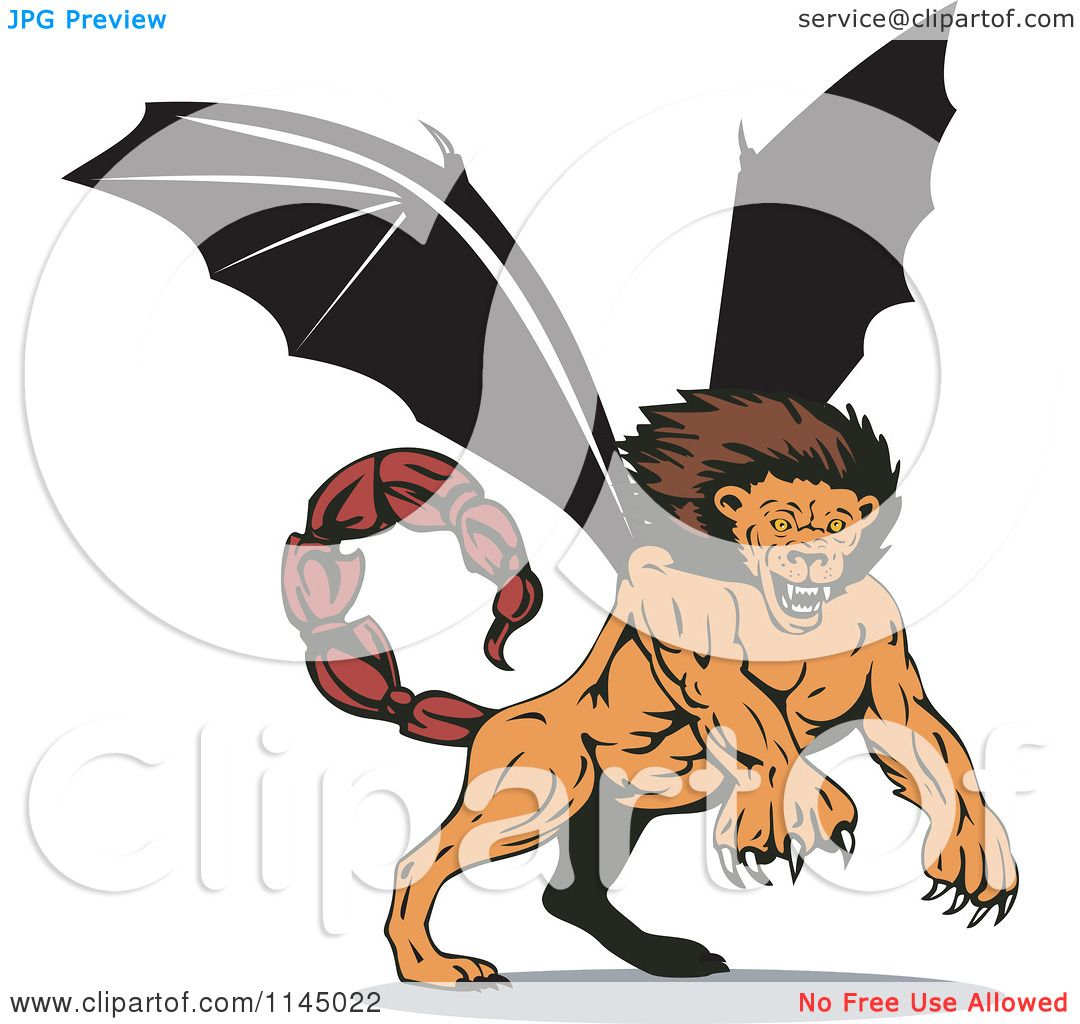Manticore clipart #2, Download drawings