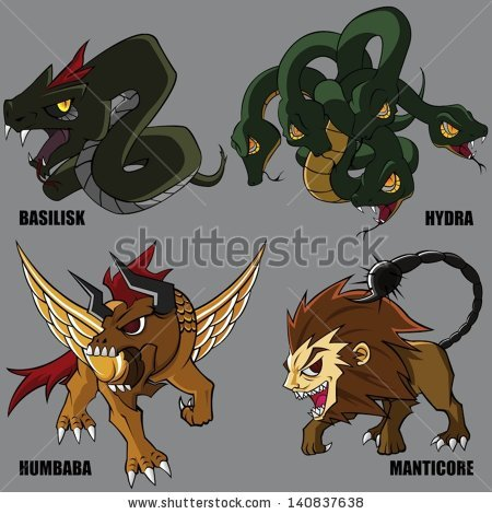 Manticore clipart #12, Download drawings