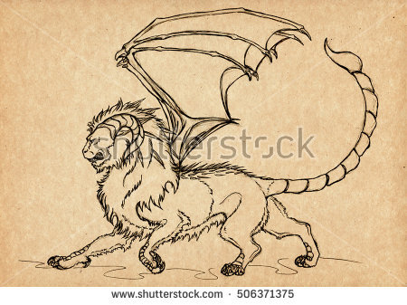 Manticore clipart #1, Download drawings