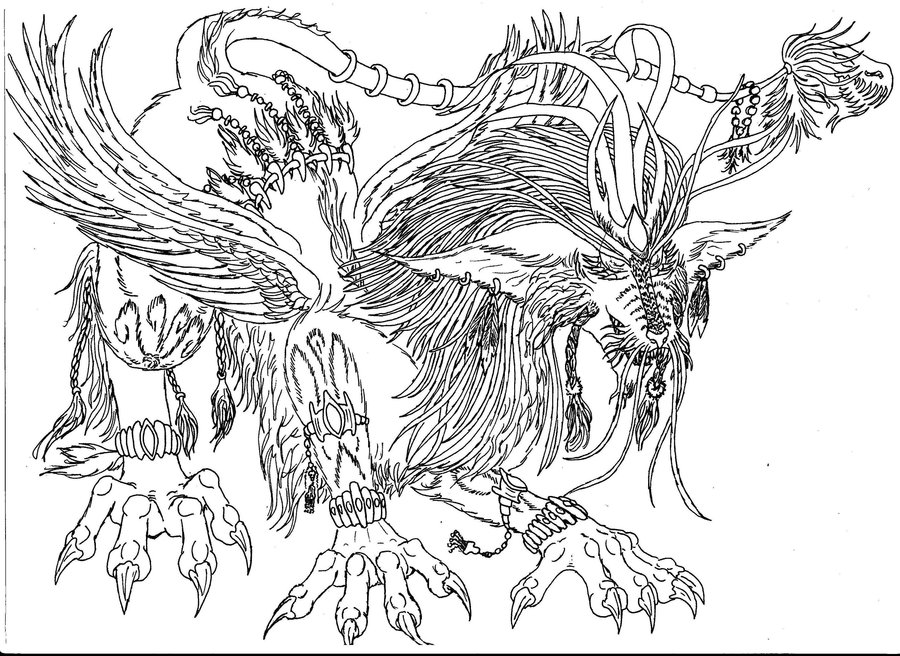 Manticore coloring #19, Download drawings