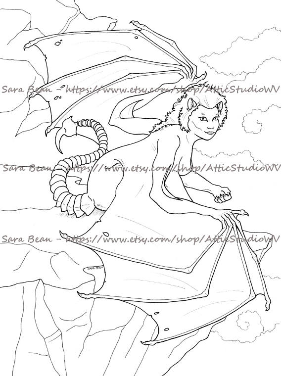 Manticore coloring #13, Download drawings