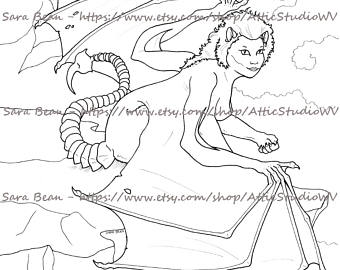 Manticore coloring #16, Download drawings