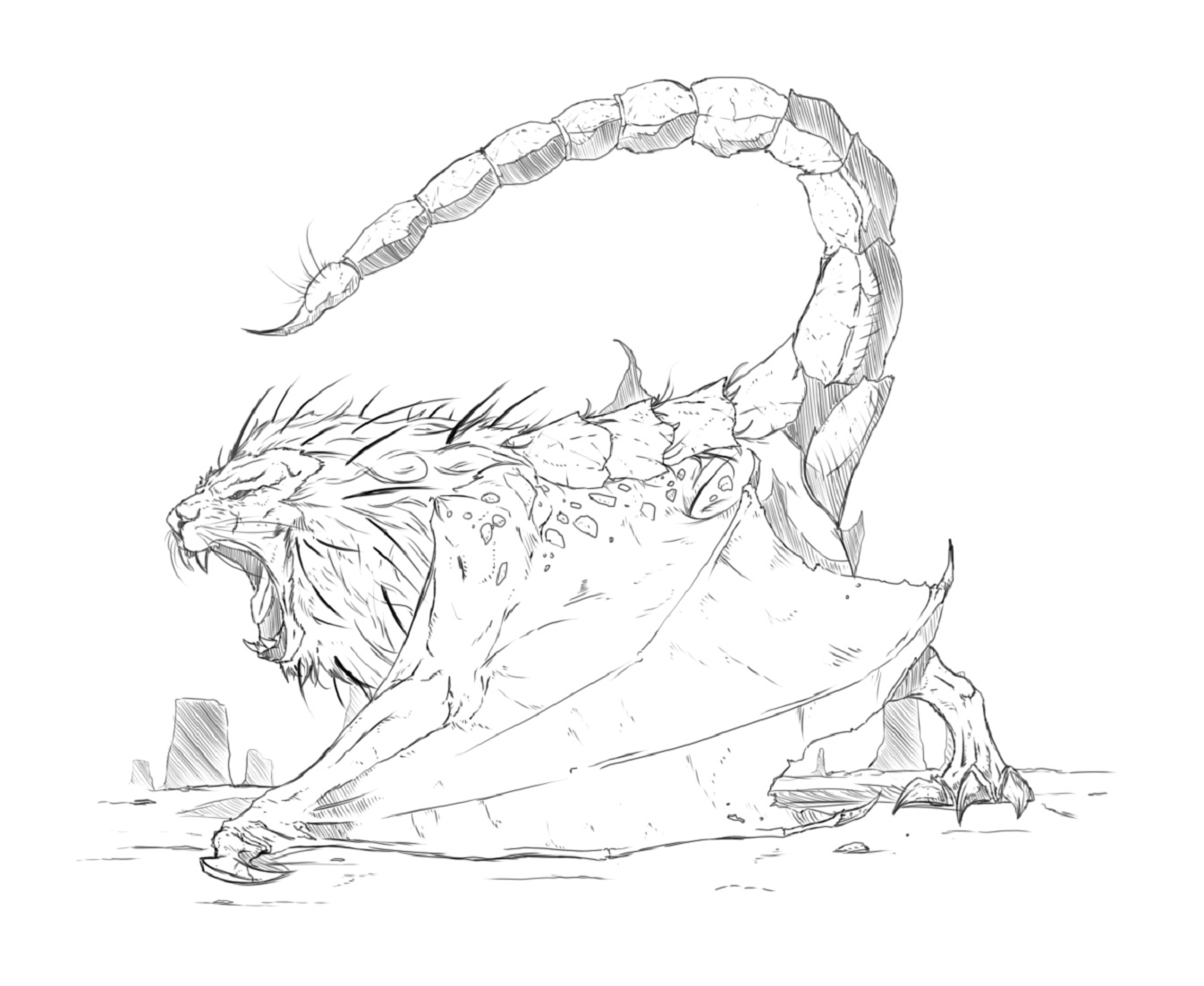 Manticore coloring #10, Download drawings