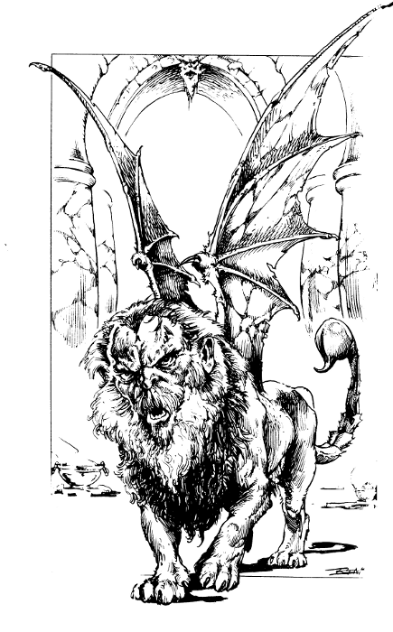 Manticore coloring #1, Download drawings
