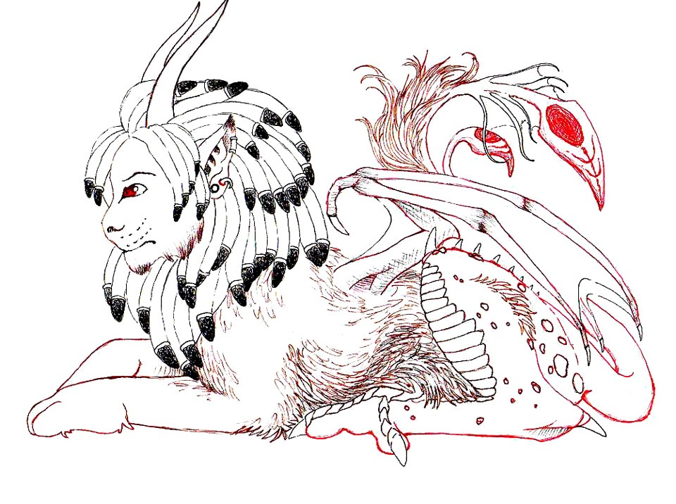 Manticore coloring #7, Download drawings