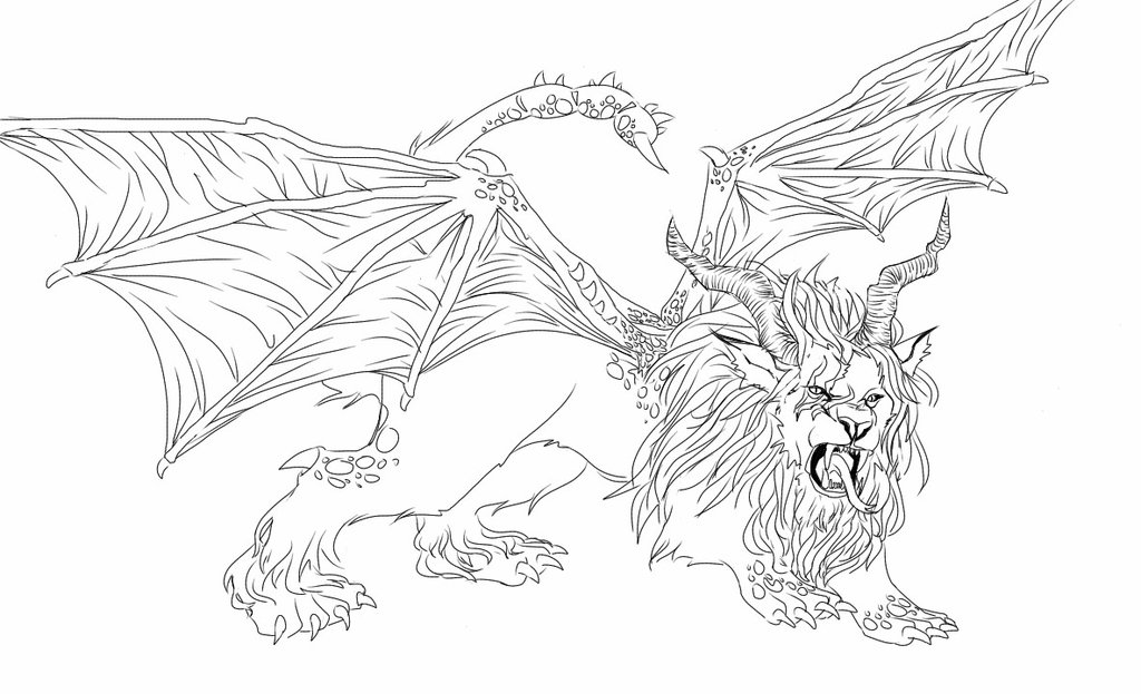 Manticore coloring #2, Download drawings