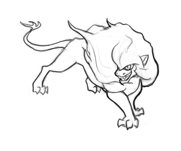 Manticore coloring #5, Download drawings