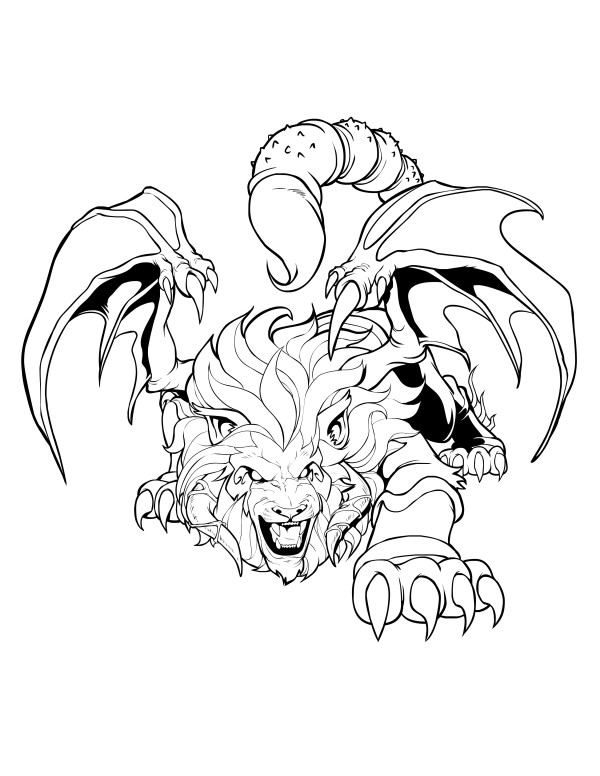 Manticore coloring #20, Download drawings