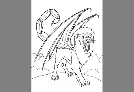 Manticore coloring #17, Download drawings