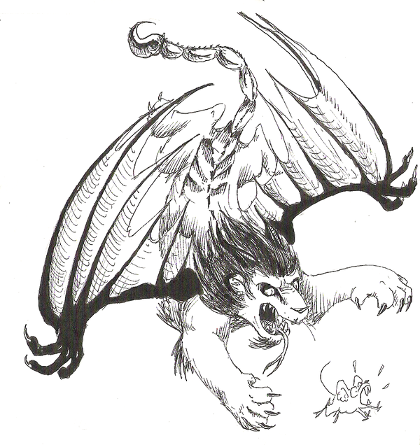 Manticore coloring #9, Download drawings