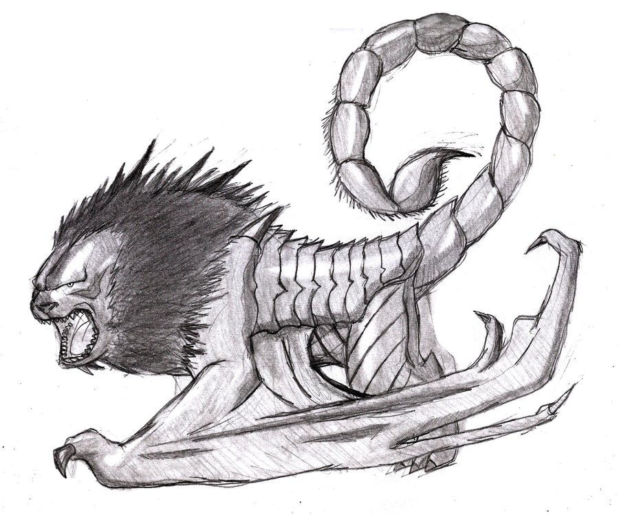 Manticore coloring #14, Download drawings