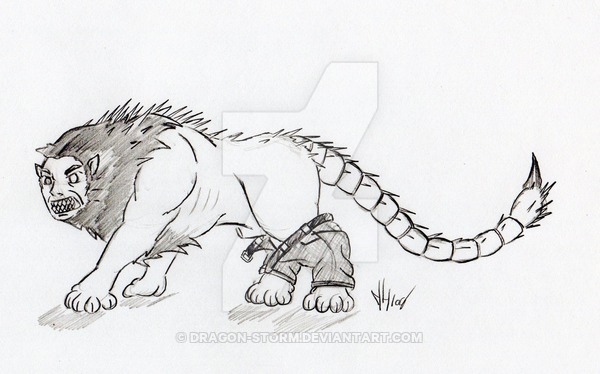 Manticore coloring #6, Download drawings