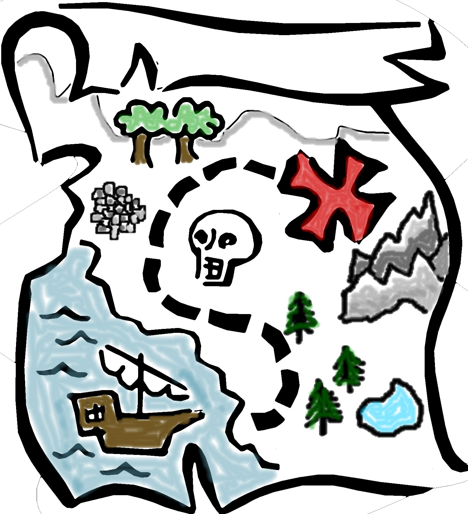 Map clipart #3, Download drawings