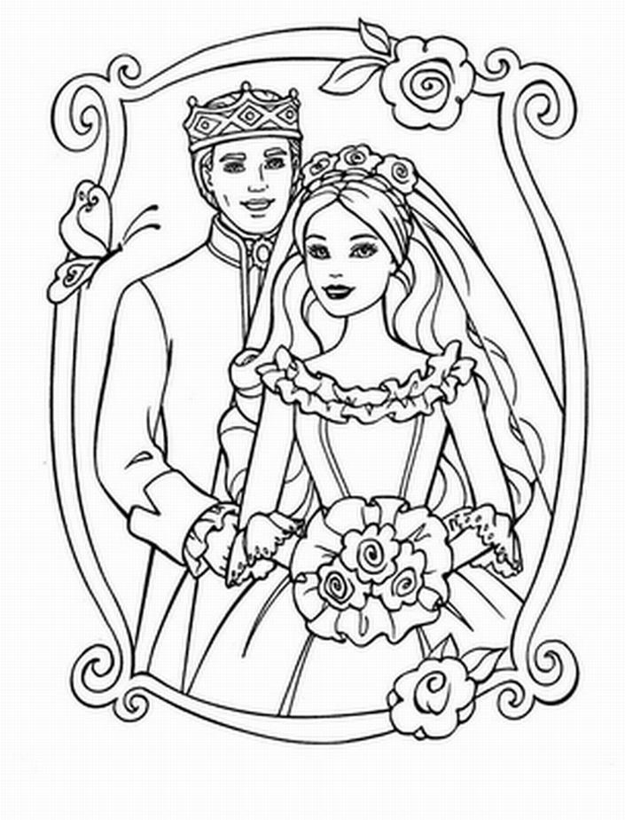 Bride coloring #15, Download drawings