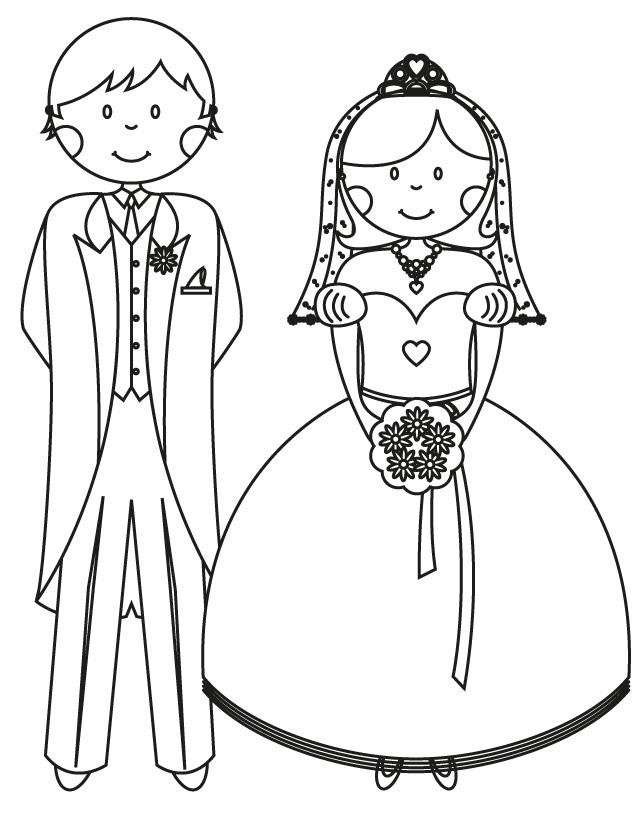 Bride coloring #20, Download drawings