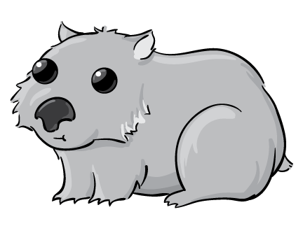 Wombat clipart #5, Download drawings