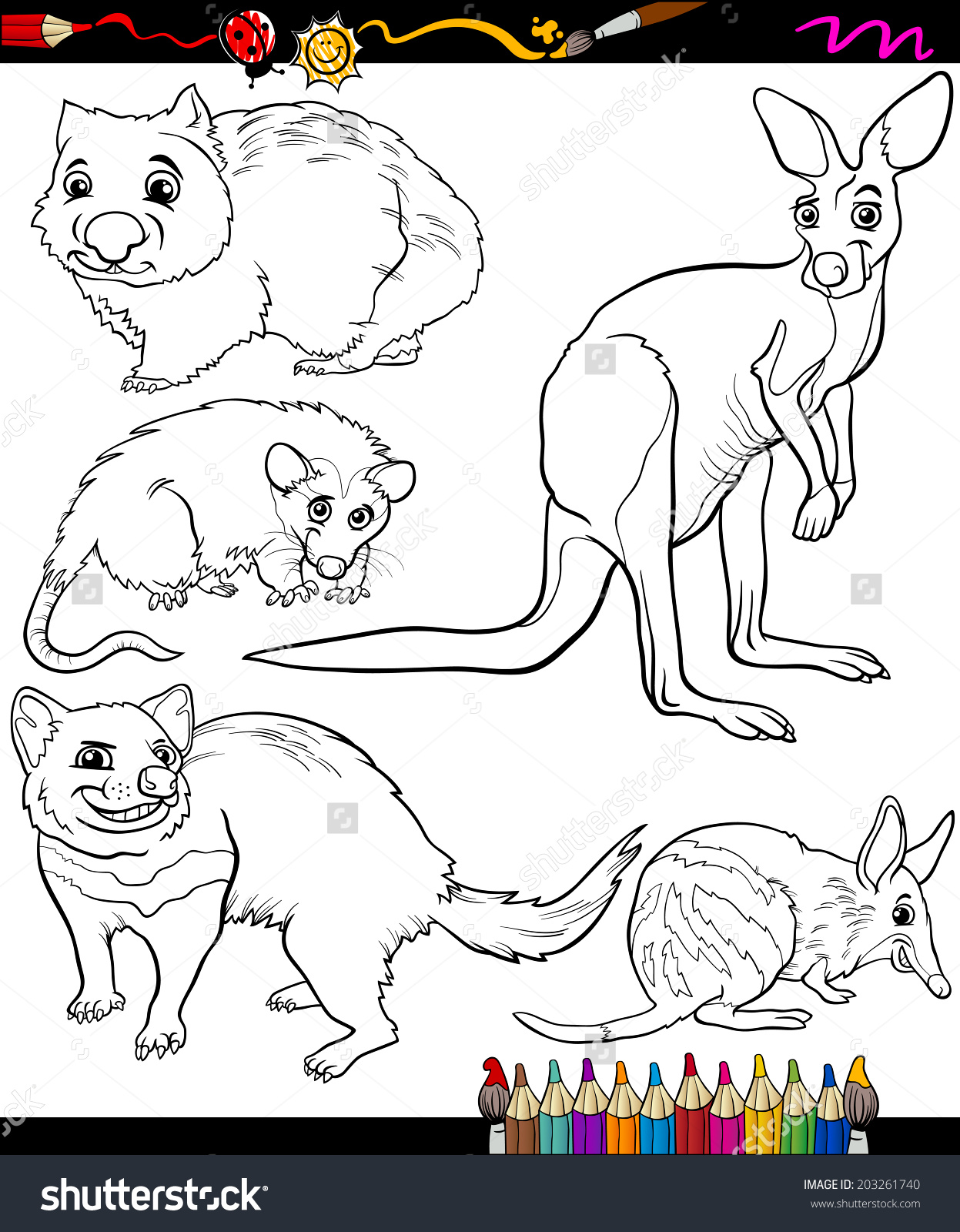 Marsupial coloring #9, Download drawings