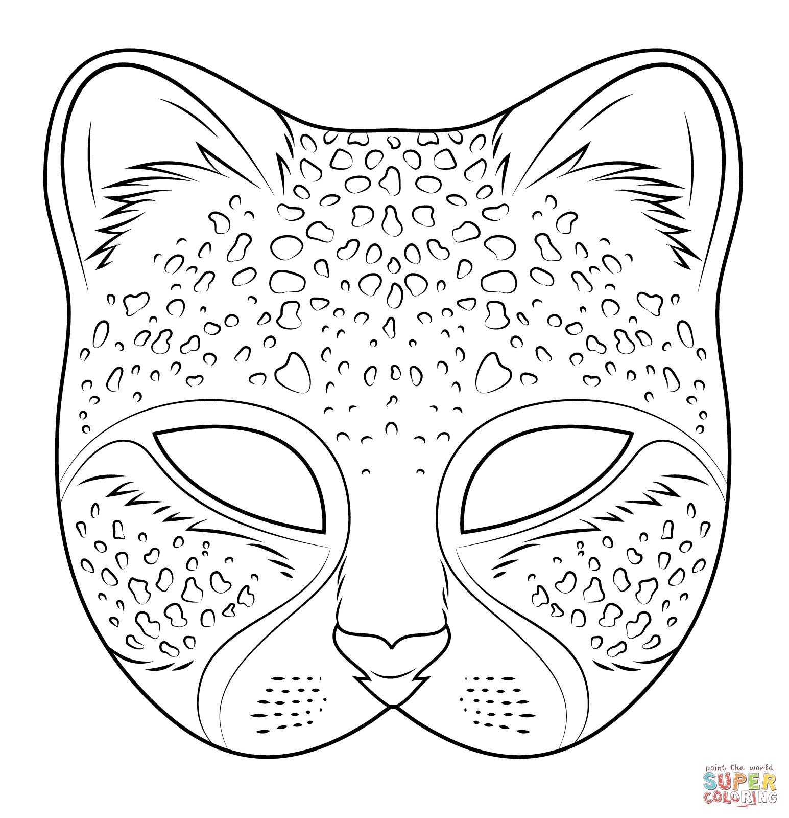 Mask coloring #4, Download drawings