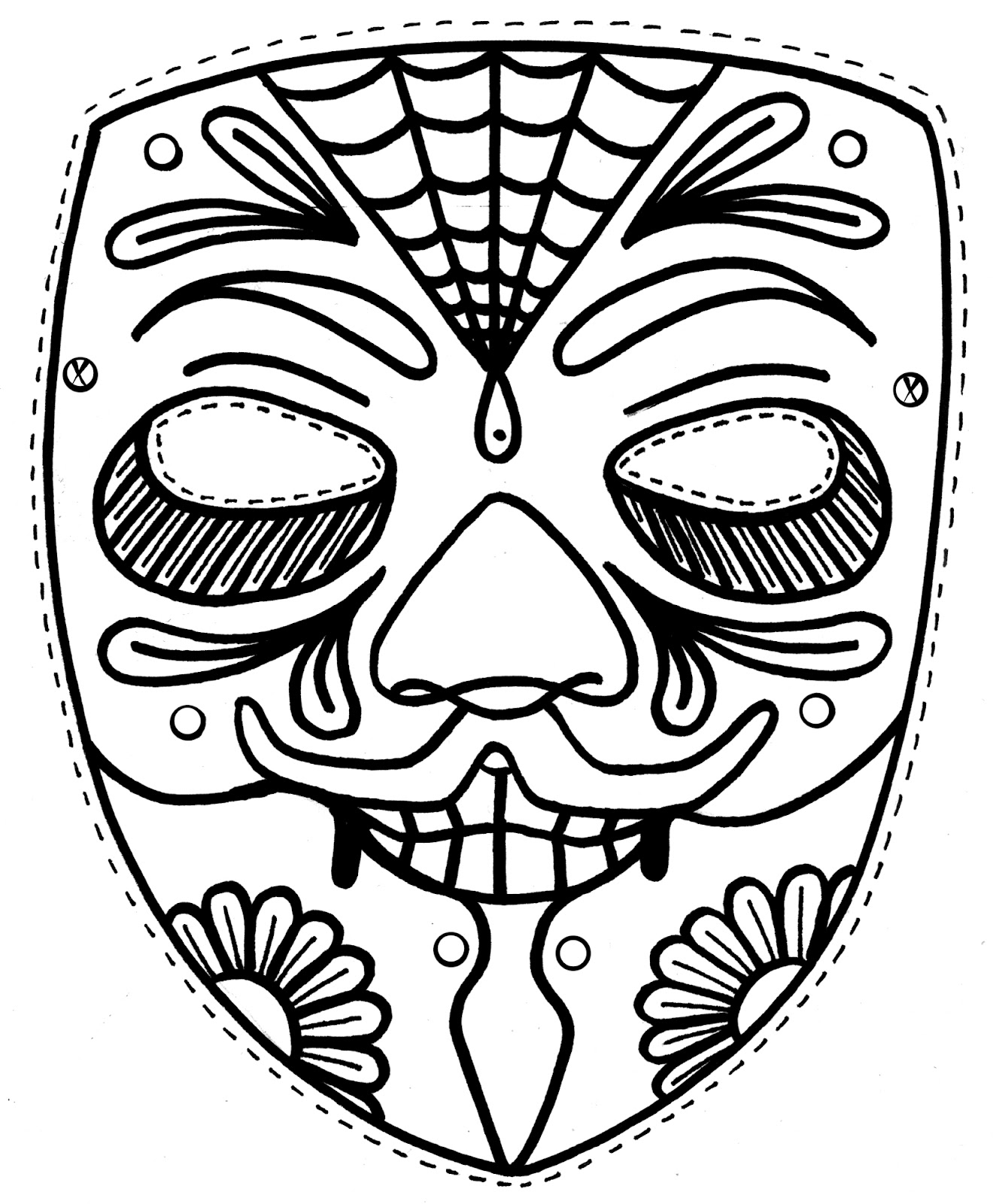 Mask coloring #5, Download drawings