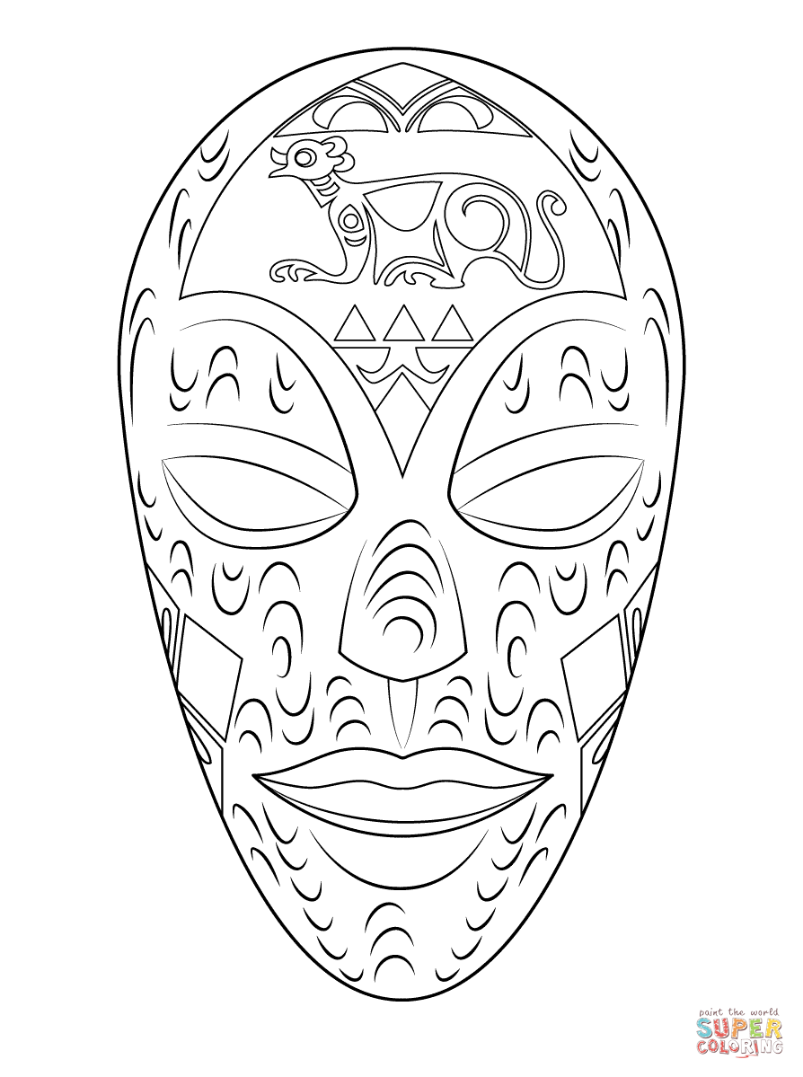 Mask coloring #16, Download drawings