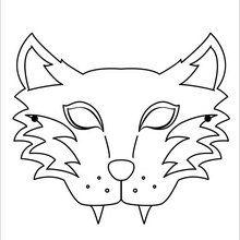 Mask coloring #13, Download drawings