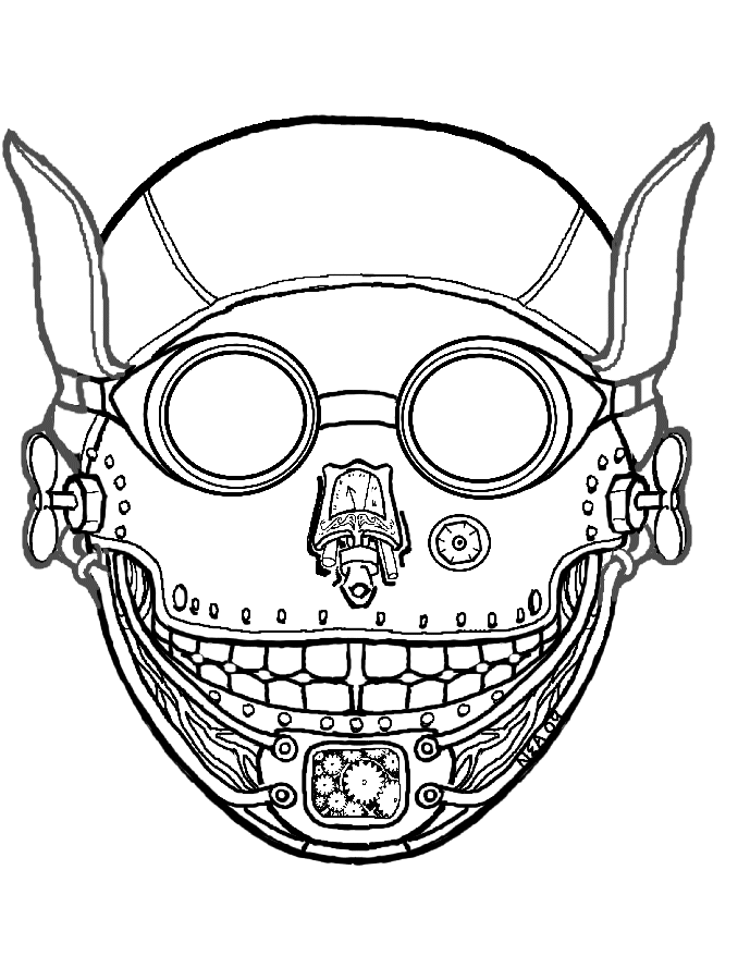 Mask coloring #6, Download drawings
