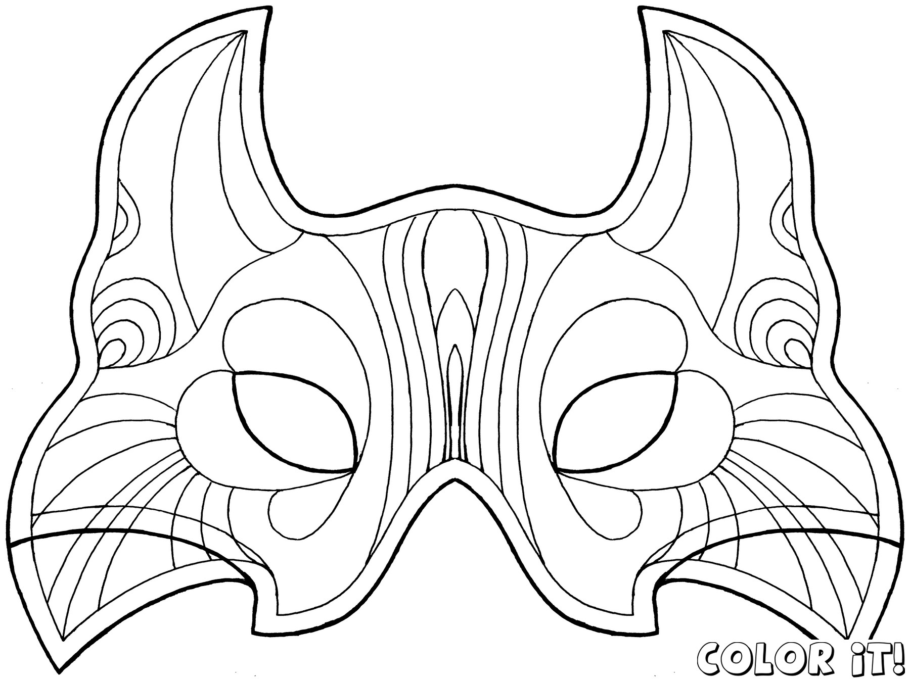 Mask coloring #20, Download drawings