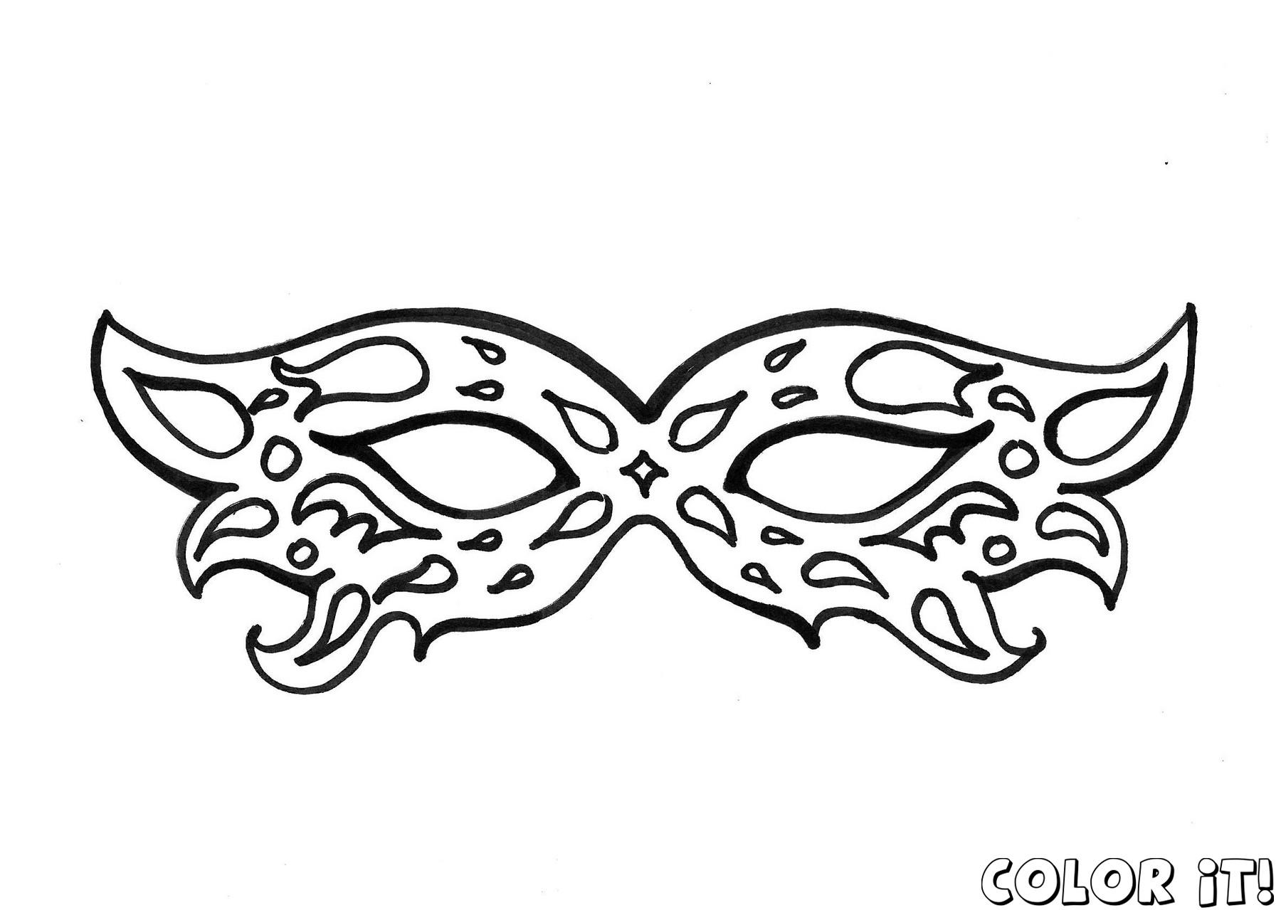 Mask coloring #2, Download drawings