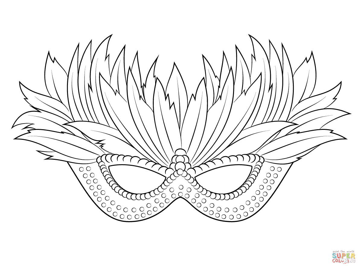 Mask coloring #18, Download drawings
