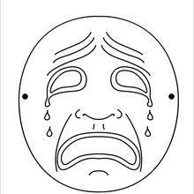 Mask coloring #7, Download drawings
