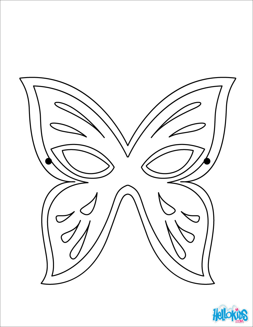 Mask coloring #3, Download drawings