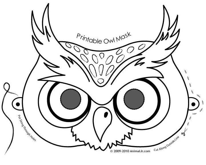 Mask coloring #20, Download drawings