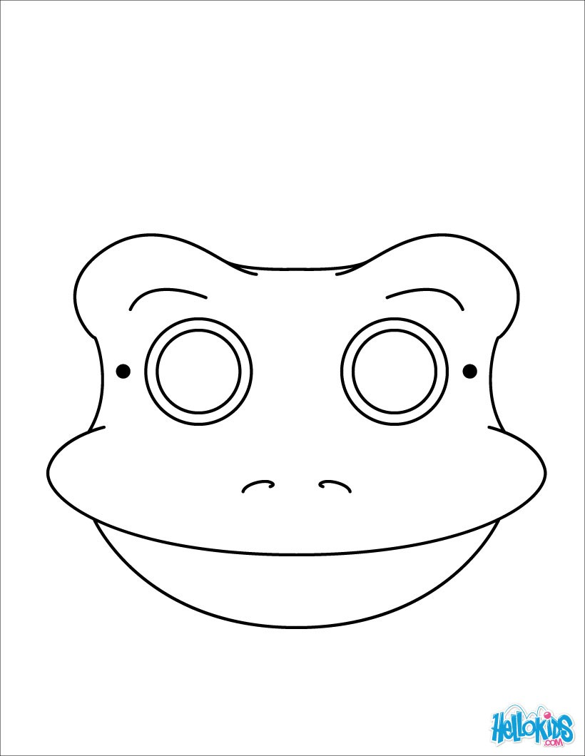 Mask coloring #7, Download drawings