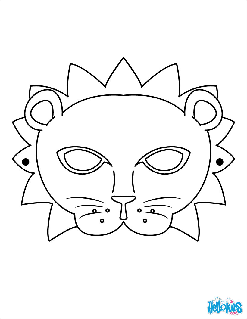 Mask coloring #9, Download drawings