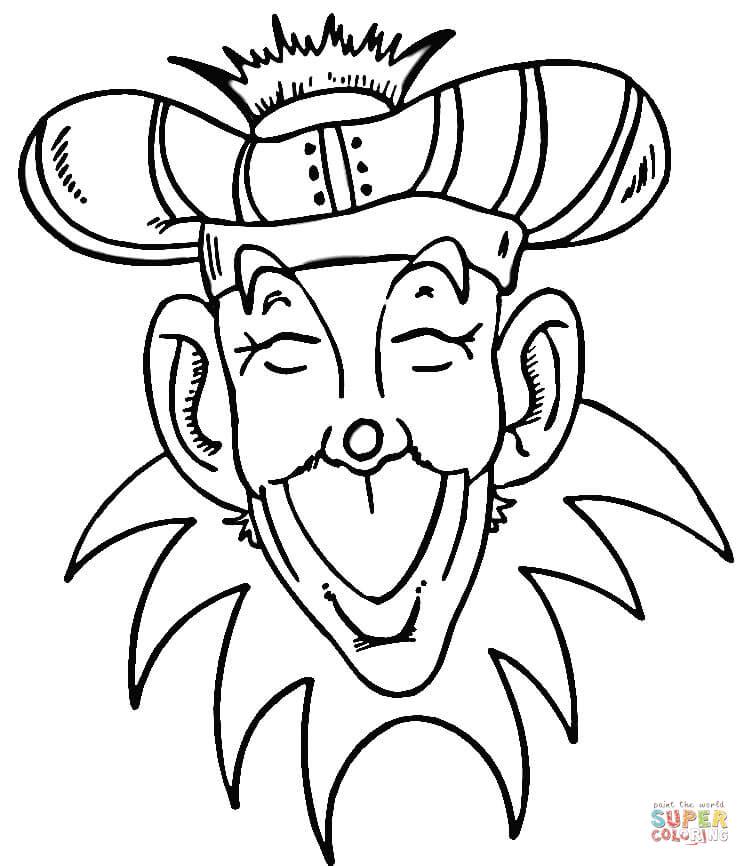 Masquerade coloring #8, Download drawings