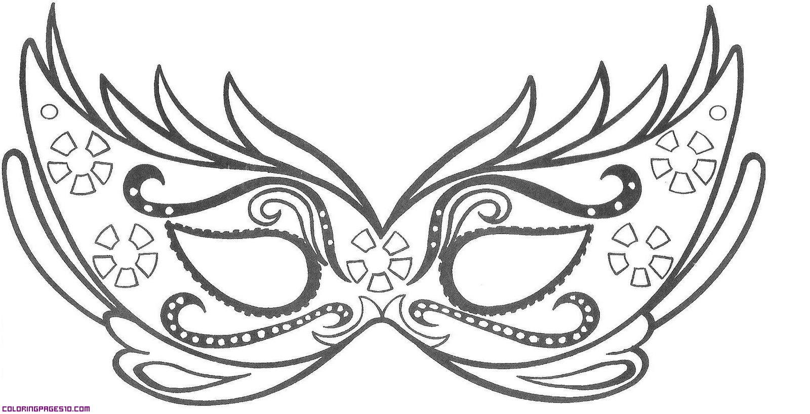 Masquerade coloring #5, Download drawings