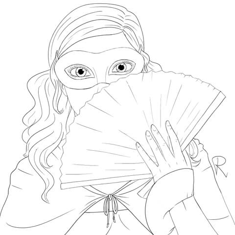 Masquerade coloring #6, Download drawings