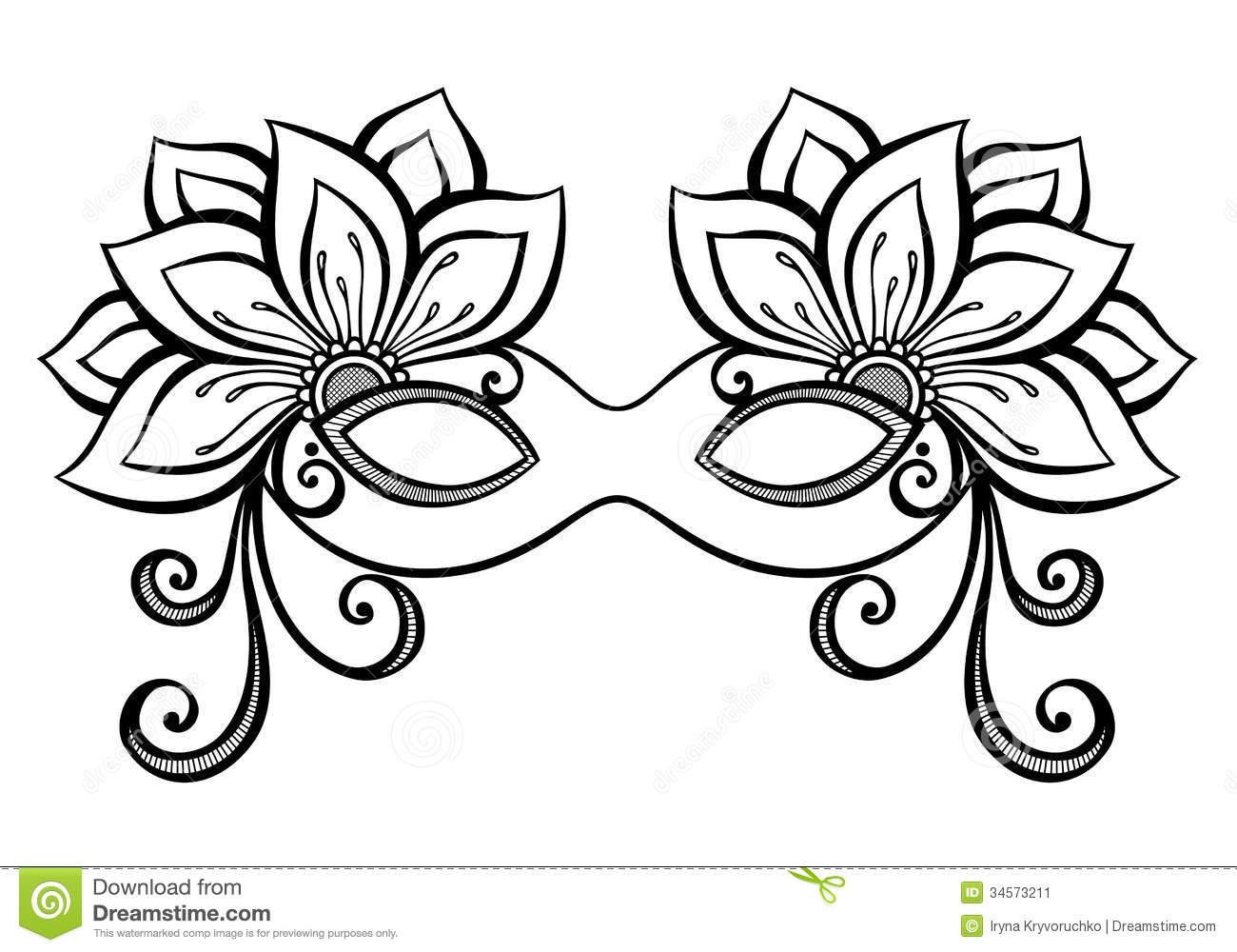 Masquerade coloring #18, Download drawings